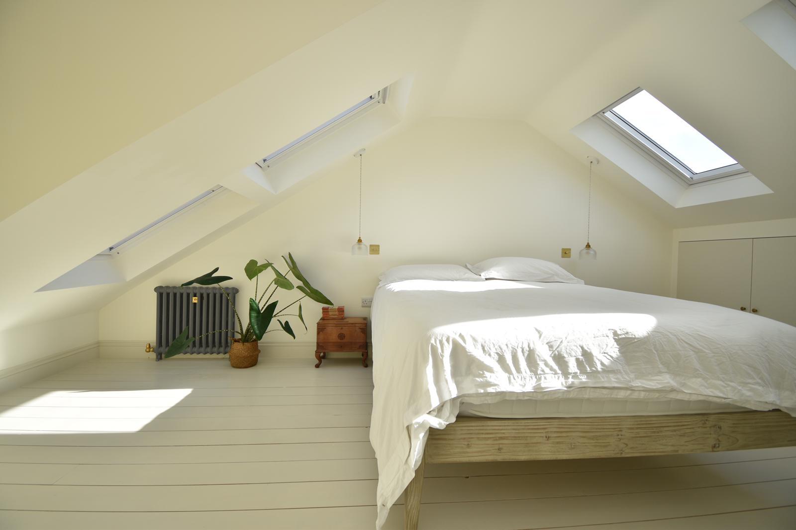 loft conversion bedroom sloped ceiling